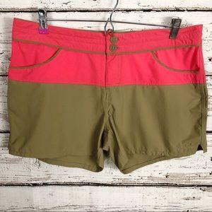Patagonia women's colorblock shorts size 10